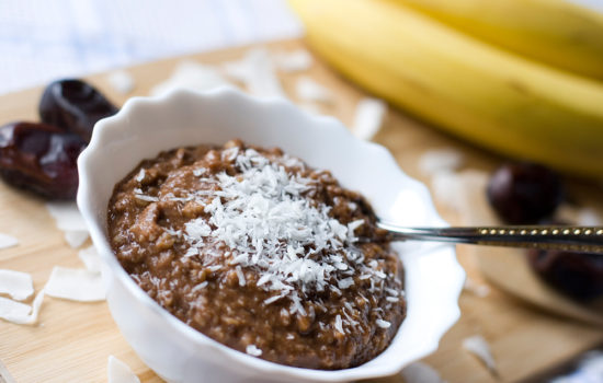 Chocolate oatmeal from whole oats