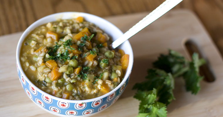 Instant Pot: whole oats with vegetables