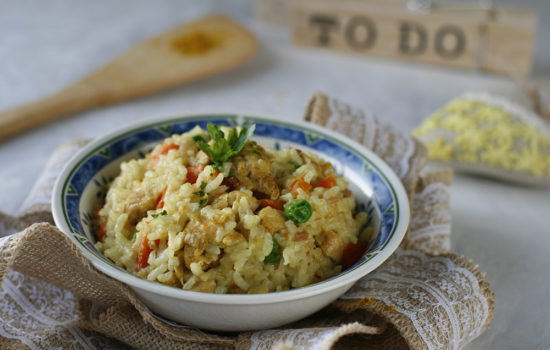 Instant Pot: Curry risotto with chicken
